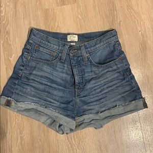 J. Crew  High Rise Denim Shorts